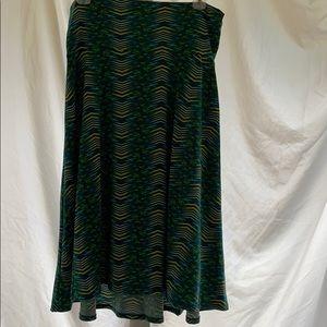 LuLaRoe azure skirt blue green